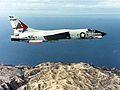 F-8J Crusader of VF-301 in flight in early 1970s.jpg