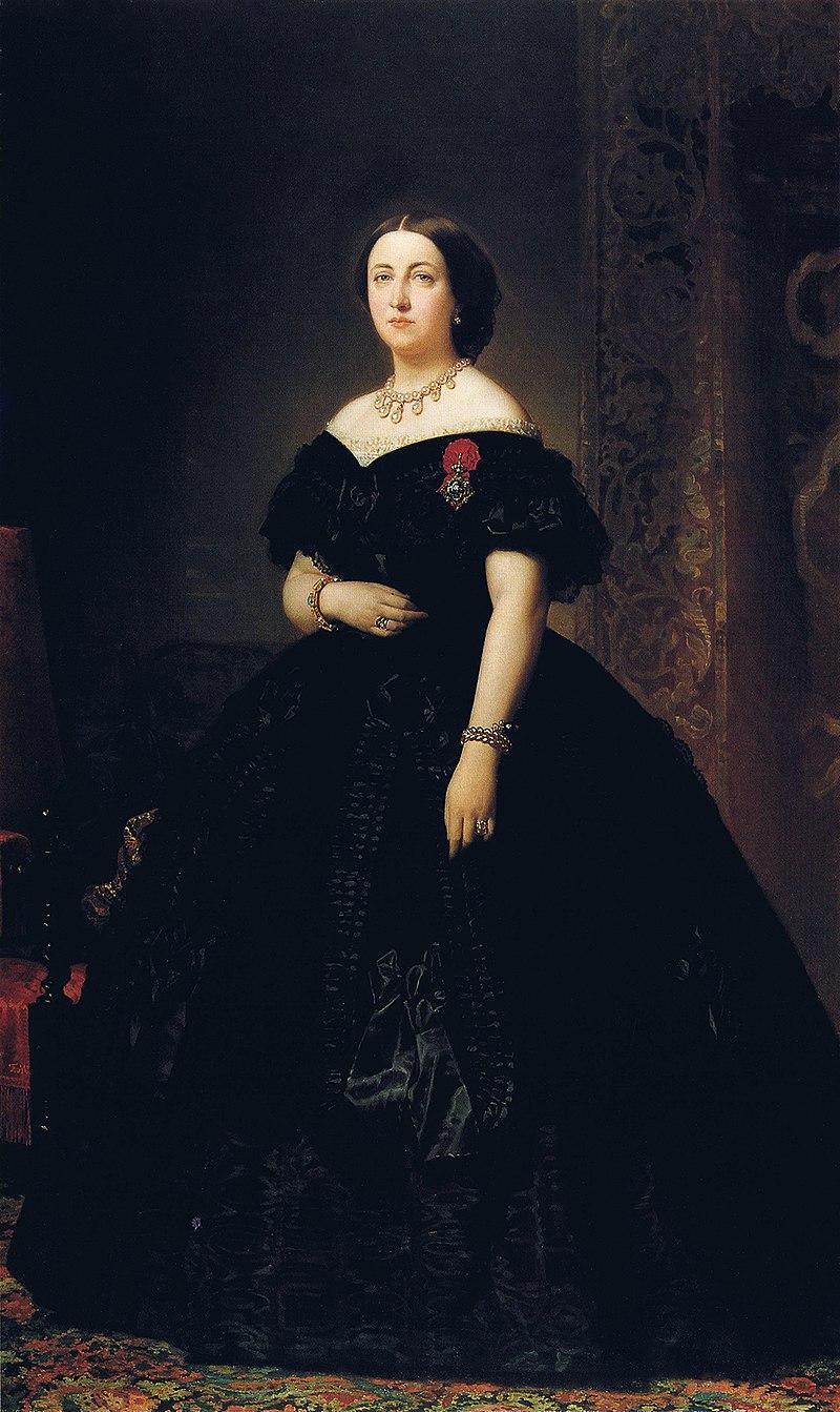 F. de Madrazo - 1863, Inés Francisca de Silva, Marquesa de Alcañices (Colección particular, Madrid, 205 x 124 cm).jpg