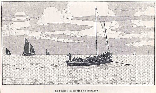 La Pêche à la Sardine en Bretagne (Illustration de 1917)
