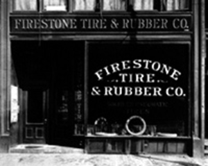 Firestone Tire and Rubber Company - The First Firestone store