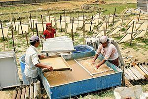 Lokta paper - Manufacturing of lokta paper, Kathmandu