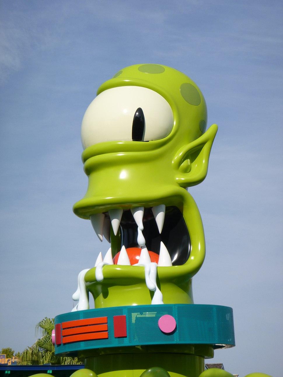 Face of Kang & Kodos Twirl n Hurl Springfield U S A