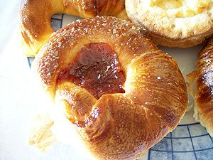 Bizcocho - Margarita with dulce de membrillo (a sweet quince paste.)