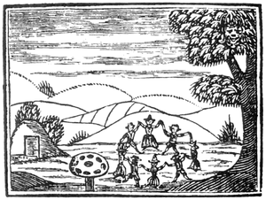 Chapbook - Woodcut of a fairy-circle from a 17th-century chapbook