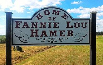 Fannie Lou Hamer - A sign honoring Fannie Lou Hamer for her work in Ruleville, Mississippi.