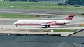 Far Eastern Air Transport MD-82 B-28021 Taxiing at Songshan Airport 20141008b.jpg