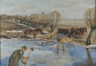 Farmhands fetching Ice