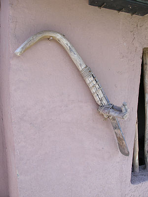 Incan agriculture - A traditional hoe still used by many small farmers throughout Peru.