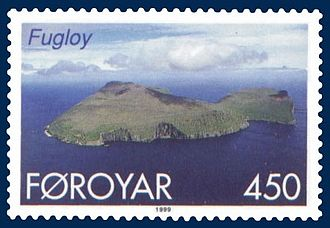 Fugloy - Fugloy on Faroese stamp issued 1999