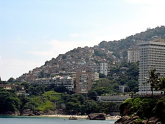 Water supply and sanitation in Brazil - Favelas in Rio de Janeiro.