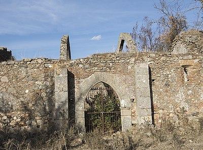 A comienzos de la década de 1990 Berrocal-Rangel se dedicó al estudio del conjunto monacal visigodo de San Miguel de los Fresnos. En la imagen, la ermita homónima, en Fregenal de la Sierra, Badajoz.
