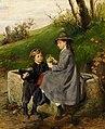 Felix Schlesinger - Zwei Kinder am Brunnen.jpg