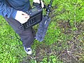 Field recording, 2007-12-05 - Shotgun microphone with windshield, Fostex FR-2 Field Memory Recorder (using CF card, up to 24bit@192kHz) (photo by j bizzie).jpg