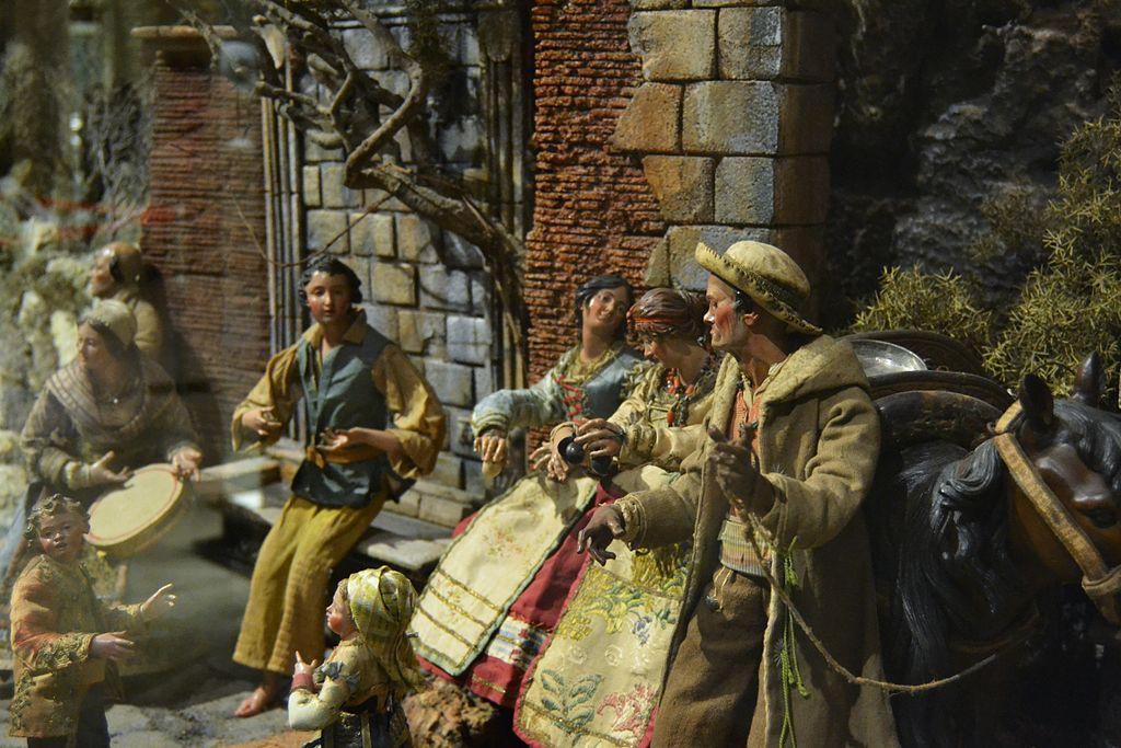 Figuretes del pessebre napolità del museu de Ceràmica, València.JPG