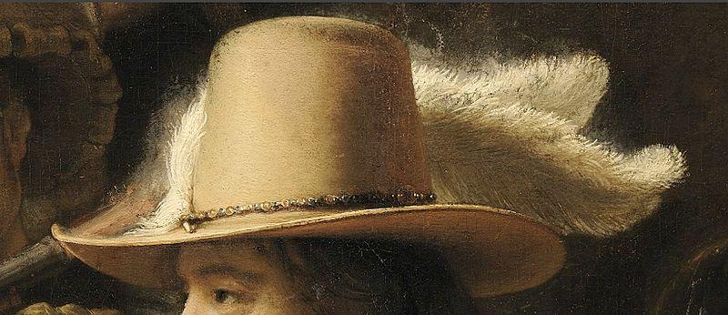 Arquivo: File-Rembrandt - De Nachtwacht (chapéu detail) cores aprimoradas enlarged.jpg