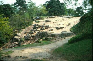 Geology of Alderley Edge mountain in United Kingdom