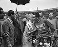 Finish ronde van Nederland in het Olympisch stadion te Amsterdam, etappewinnaar , Bestanddeelnr 909-6556.jpg