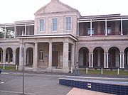 Queensland's first Government House located in the QUT Gardens Point Campus grounds.