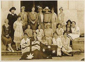 Bessie Rischbieth - First Women's Pan-Pacific Conference, Rischbieth is at top centre.