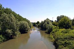 Il torrente Chisola a Vinovo