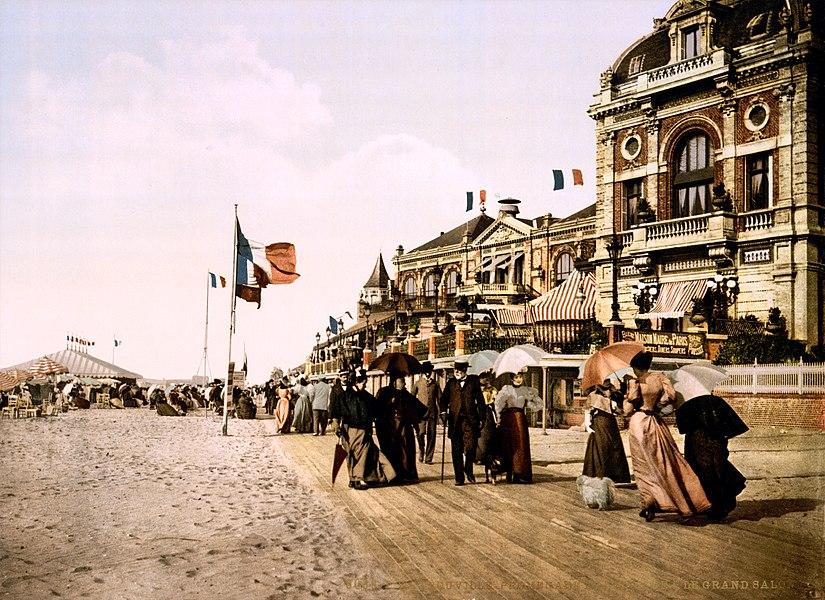 Promenade and grand Salon, Trouville, Normandy, France.