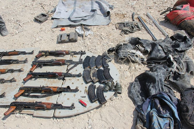 File:Flickr - Israel Defense Forces - Weaponry and Ammunition Found on Palestinian Boat in the Dead Sea.jpg