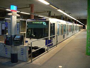 Lausanne-Flon station - M1 terminal platforms