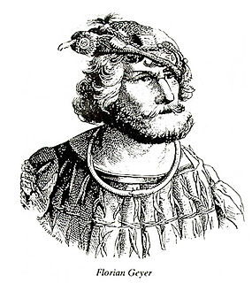 Florian Geyer German knight,diplomat and peasant leader in the German Pesants War