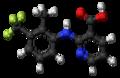 Flunixin molecule ball.png