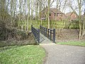 Footbridge over stream at rear of Borodin Court - geograph.org.uk - 1734146.jpg