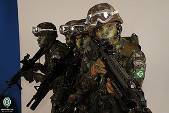 Special Operations Command (Brazil) - Special forces troops during training.