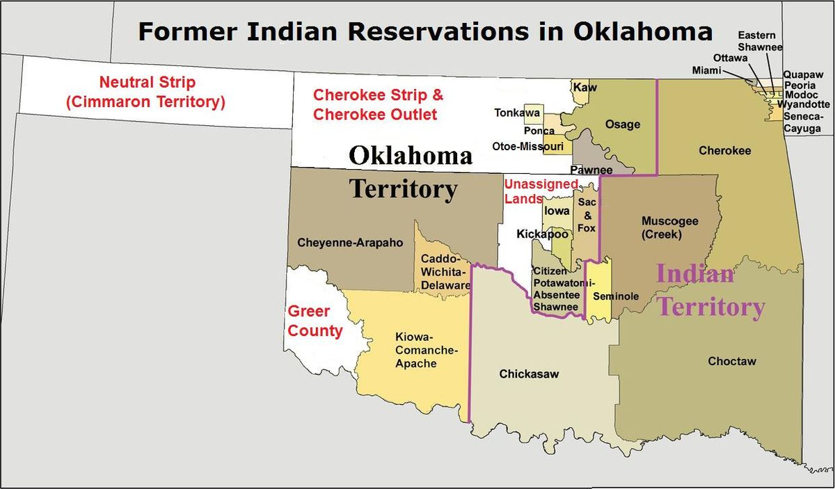 Former Indian reservations in Oklahoma - Wikipedia