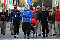 Former U.S. Air Force Tech. Sgt. Israel Del Toro carries the ceremonial torch down Olympic path during the opening ceremony of the inaugural Warrior Games at the Olympic Training Center in Colorado Springs 100510-F-QE915-837.jpg
