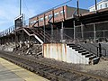 Former temporary stairs at Porter station, April 2013.JPG
