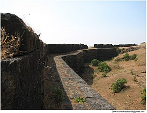 Fortification wall at visapur.jpg