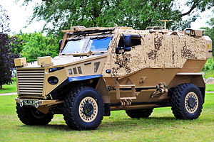 Ocelot (vehicle) - Foxhound on display