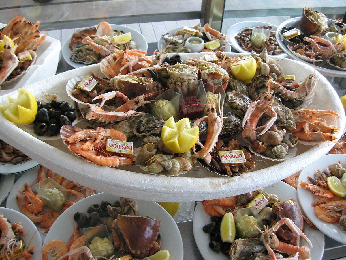 Plateau de fruits de mer wikip dia for Tipos de comida francesa