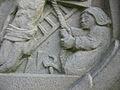 Fr Hohengoeft Chemin de croix station 11 Rope, ladder and pincers details.jpg