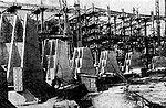 1940. Foundation slab and frame