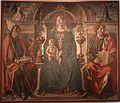 Francesco del cossa, pala dei mercanti, col committente alberto de' cattanei, 1474, 01.jpg