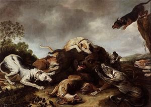 Frans Snyders - Wild boar hunt