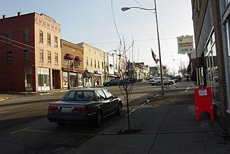 Fredericktown, Ohio - Looking South on Main St.