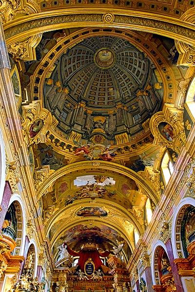 File:Fresco with Trompe l'oeuil - Andrea Pozzo -Jesuit Church Vienna.jpg