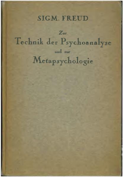 File:Freud - Zur Technik der Psychoanalyse und zur Metapsychologie.djvu