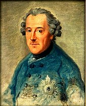 The only portrait Frederick ever personally sat for (by Ziesenis, 1763) (Source: Wikimedia)