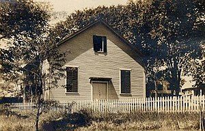 Amesbury Friends Meeting House - Postcard view, 1911