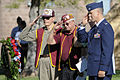 From left, Carroll Knutson, Gene Ramos, Jack Leaming, all former prisoners of war, and U.S. Air Force Col. Pete Ford, commander of the 57th Adversary Tactic Group, render a salute during a National POW-MIA 130920-F-NK166-481.jpg