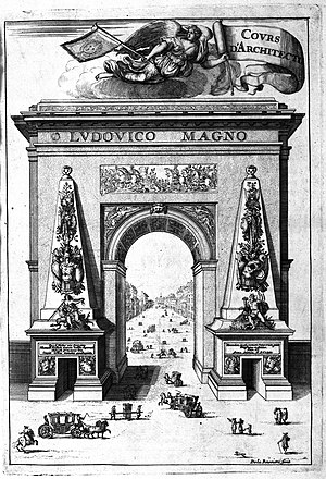 François Blondel - Blondel's Porte Saint-Denis: frontispiece to the Cours d'architecture