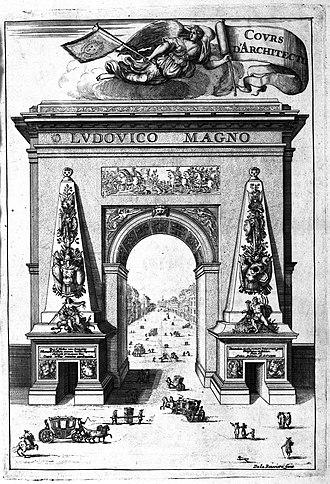 Porte Saint-Denis - Image: Frontispiz Cours d'architecture Francois Blondel 1698