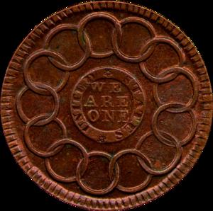 Fugio Cent - Image: Fugio cent reverse